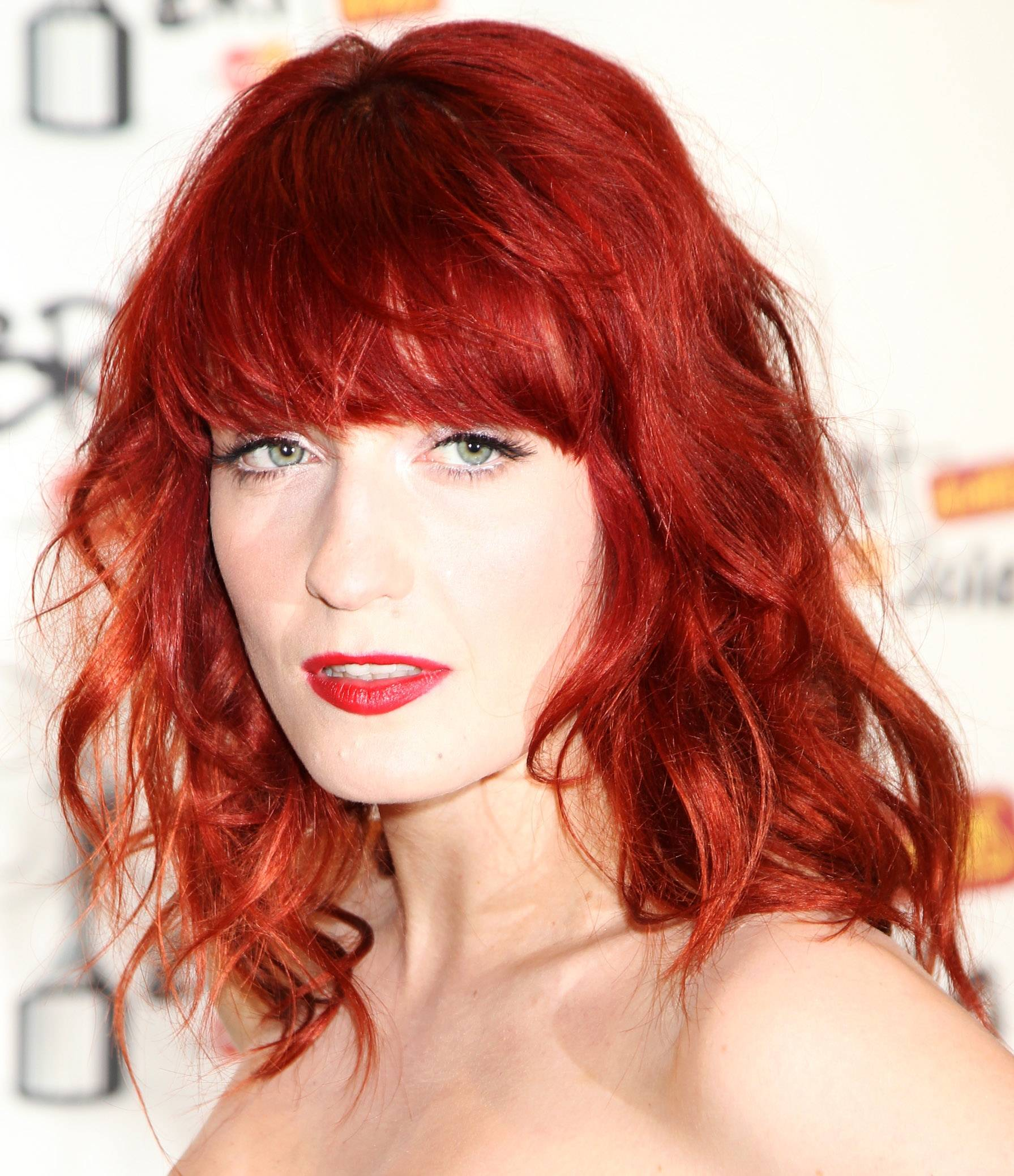 vibrant shades of red hair color Ombre red