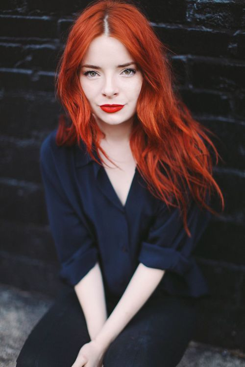 vibrant shades of red hair color Vanilla and spice