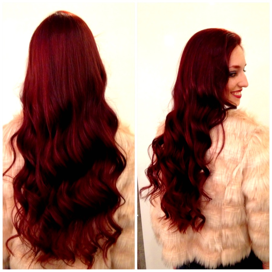 vibrant shades of red hair color Velvet riches