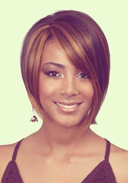 Bob haircut for black women Asymmetrical side