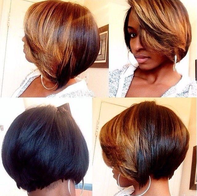 Bob haircut for black women Cropped bob