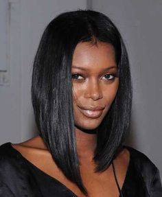 Bob haircut for black women long straight bob cut