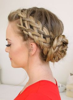 Braided hairstyles for your wedding braided bun