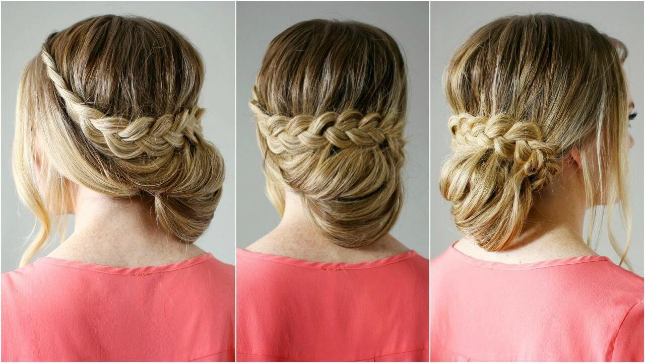 Braided hairstyles for your wedding braided up-do