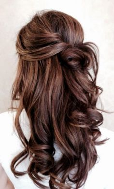Brown hairstyle ideas with perfect suitable highlight Half up blonde up