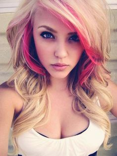 Brown hairstyle ideas with perfect suitable highlight Pink shades with deep brown curls
