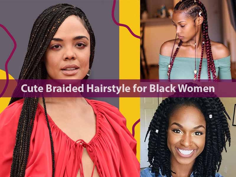 Cute Braided Hairstyle for Black Women