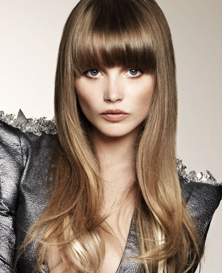 Haircuts Perfectly Suitable for Long hair Long with bangs