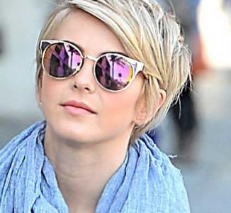 Juliana Hough choppy blonde pixie cut