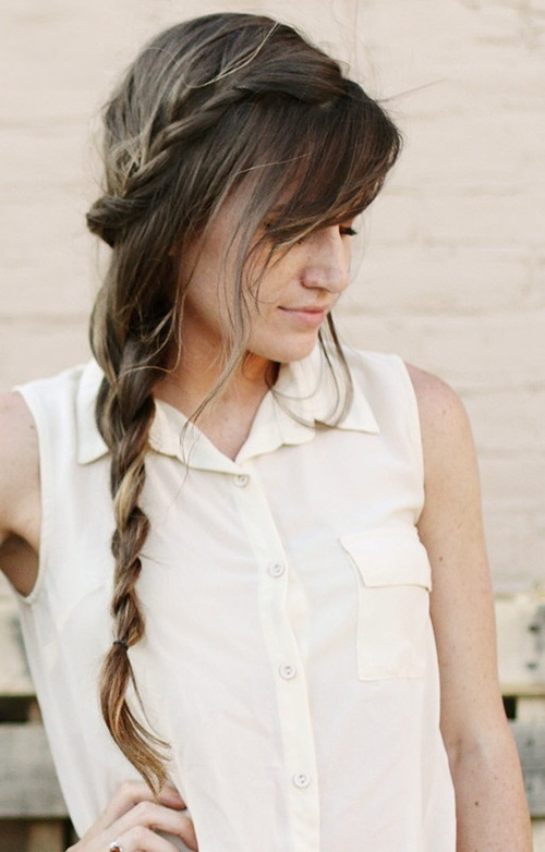Long Hairstyles for Women in their 20 Messy braid