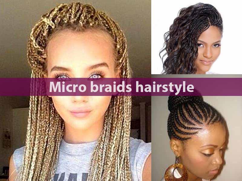 Micro braids hairstyle