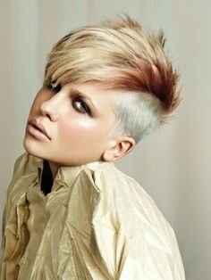 Mohawk Hairstyles for white women Colored bonded mohawk