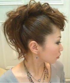 Mohawk Hairstyles for white women Messy hawk
