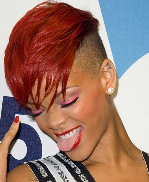 Mohawk hairstyles for black women Black and red curls Mohawk