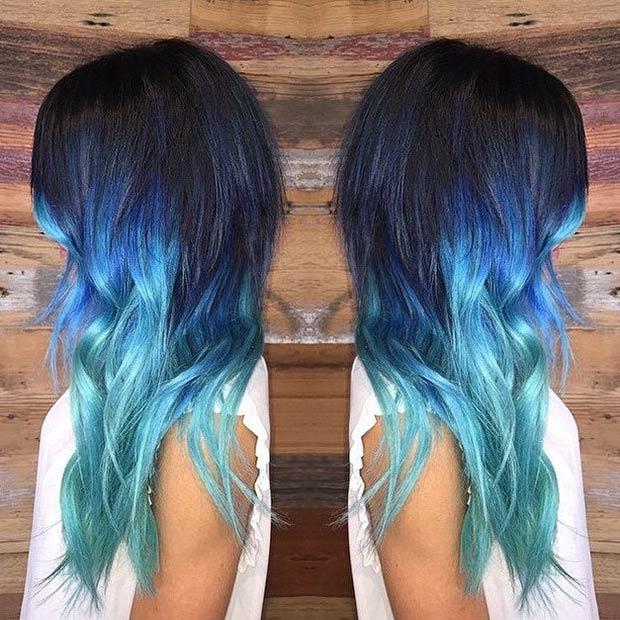 Ombre Hair Color Blonde Triple toned ombre curls