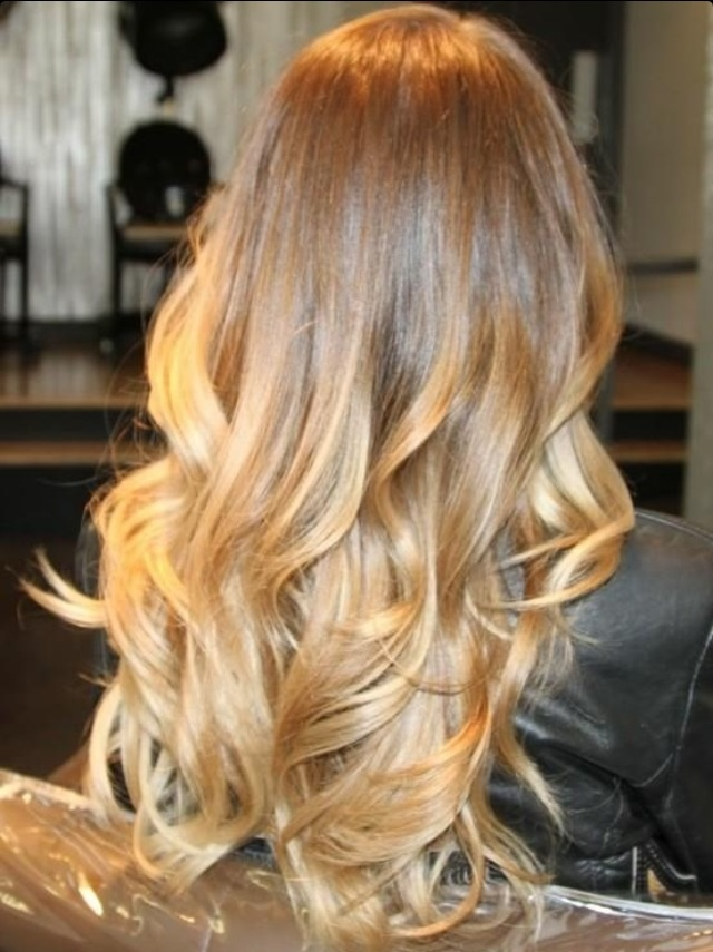 Ombre Hair Color Blonde Blonde ombre on long waves