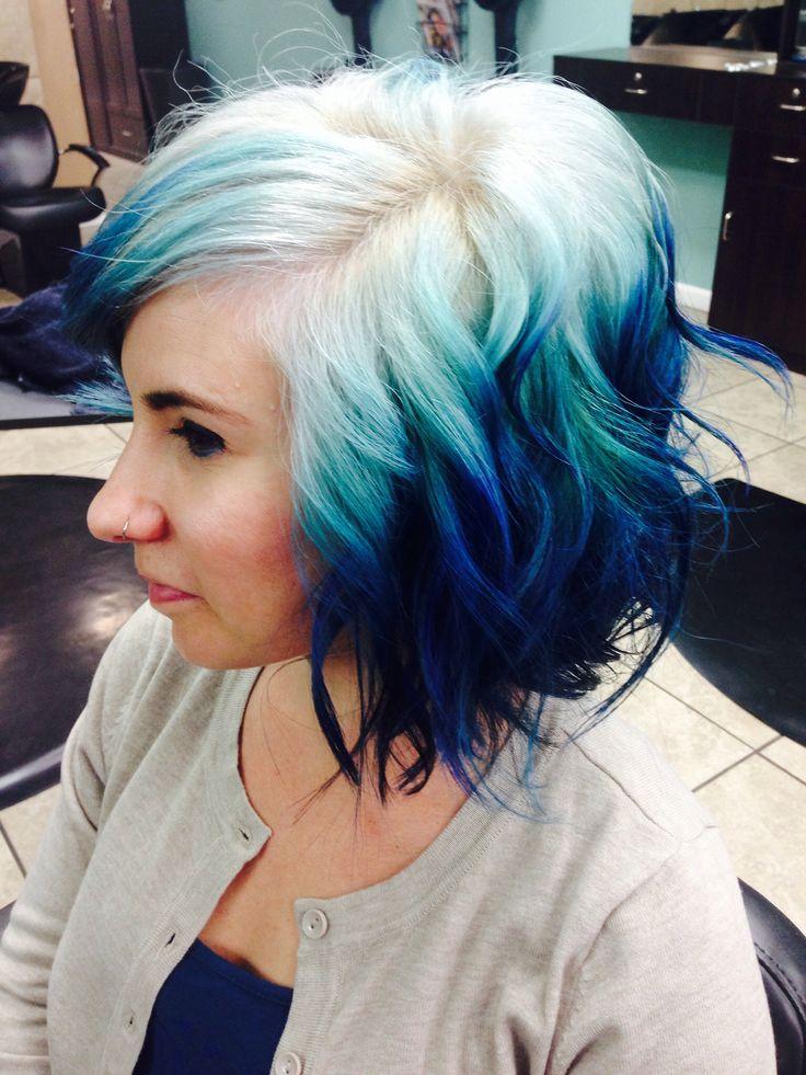 Ombre Hair Color Blonde Blue ombre