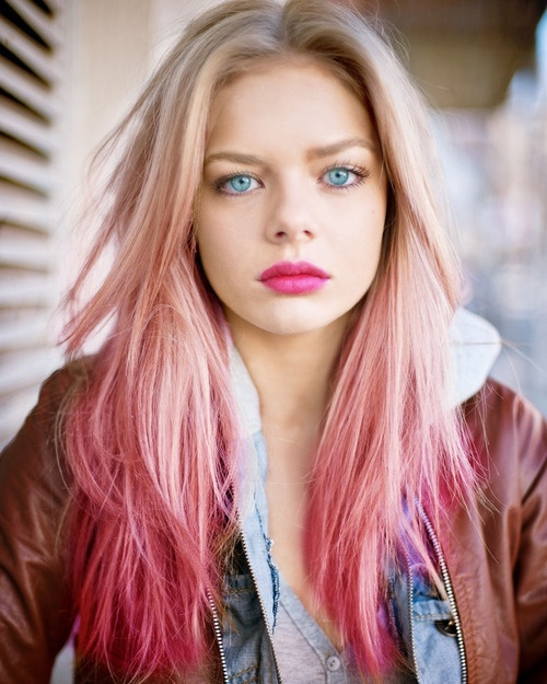 Ombre Hair Color Blonde Pink ombre hair color