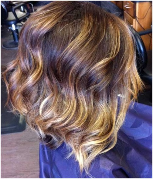 Ombre Hair Color Copper ombre on Beachy waves