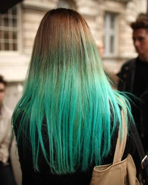 Ombre Hair Color Green ombre