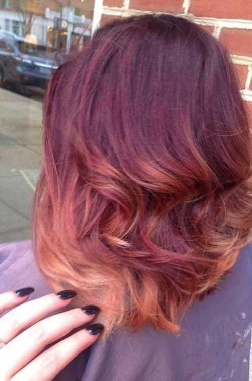 Ombre Hair Color Magenta ombre