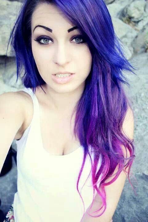 Ombre Hair Color Purple mermaid ombre