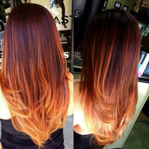 Ombre Hair Color Straight with ombre
