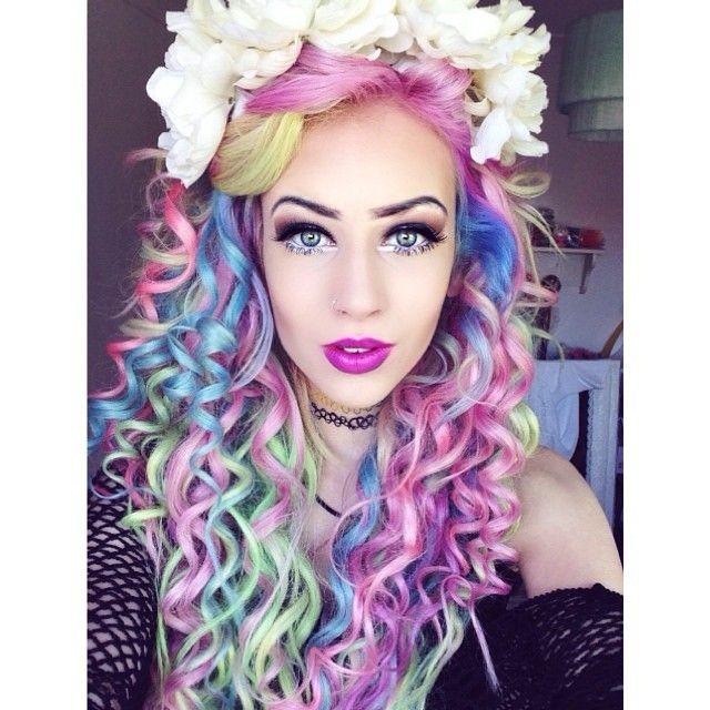 Rainbow hair color ideas curvves