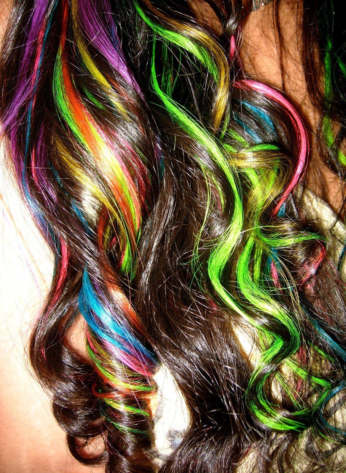 Rainbow hair color ideas half natural