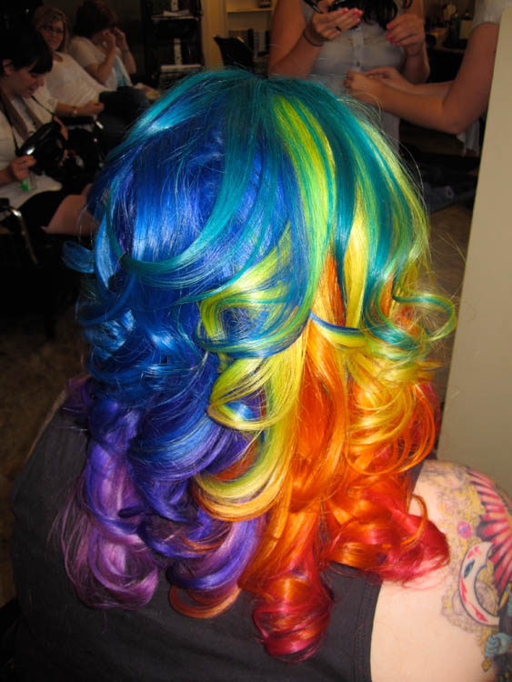 Rainbow hair color ideas quiff