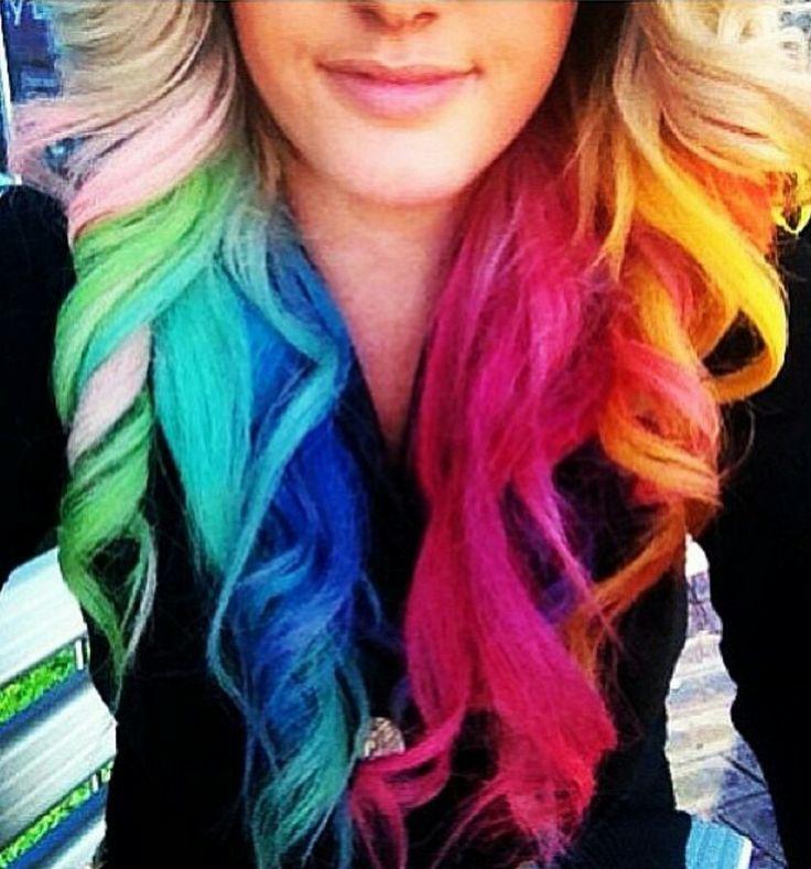 Rainbow hair color ideas rolls