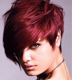 Short Wedge Hairstyles Maroon maven muffin