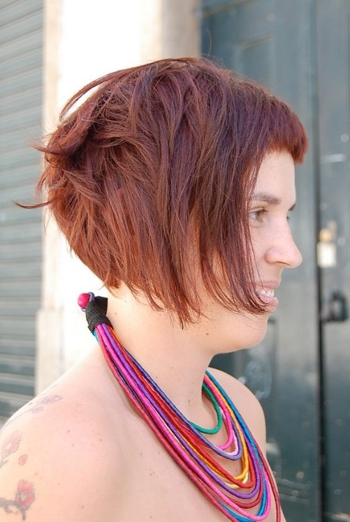 Short Wedge Hairstyles Red hot