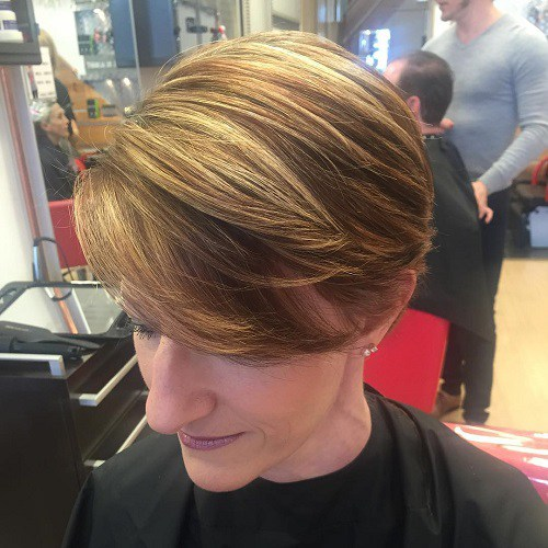 Short Wedge Hairstyles Tousled strands