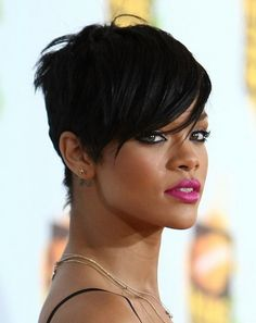 Spicy edgy hairstyles for short hair Thick short edgy pixie haircut