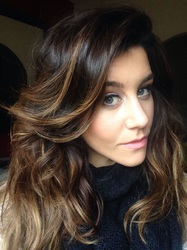 brown hair with caramel highlights Balayage for brown