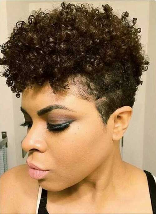 curly short hairstyles for black women Short curly tapered black