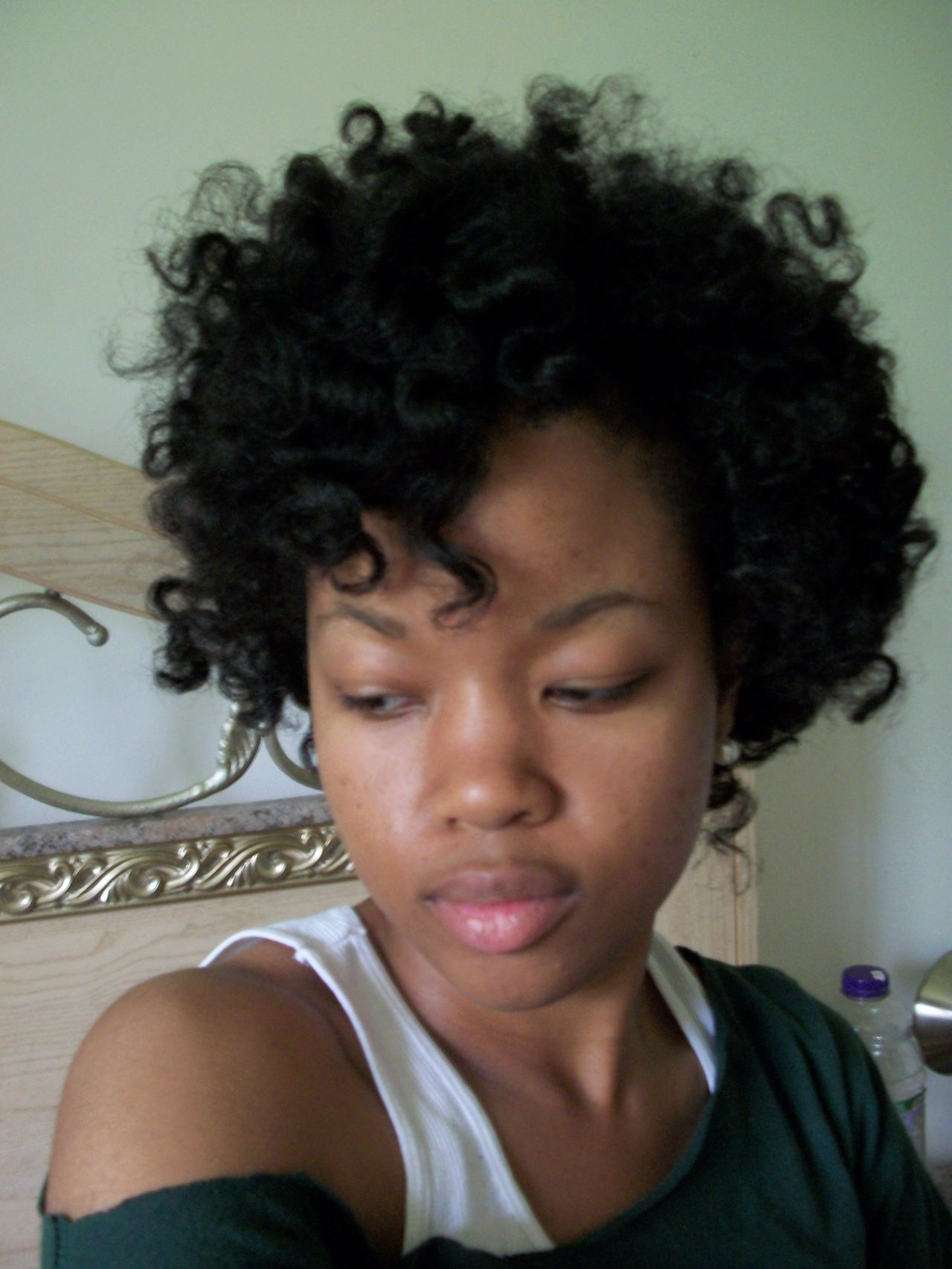 curly short hairstyles for black women Simple cury short black hair