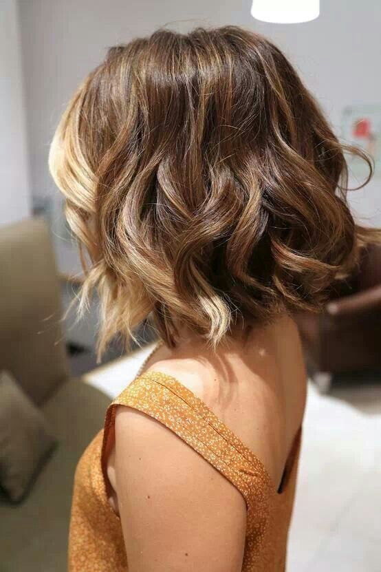 cute hairstyles for girls with short hair Ombre chopped