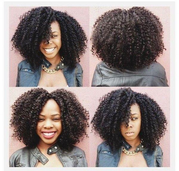 deep black color rope siddeer black curled kinky hairstyle