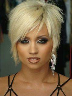 funky short shaggy hairstyles Beige blonde beauty