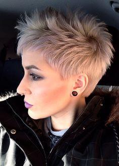 funky short shaggy hairstyles Copper choppy cut