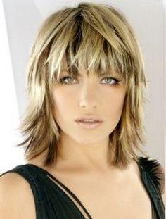 funky short shaggy hairstyles Shaggy and medium length straight cut
