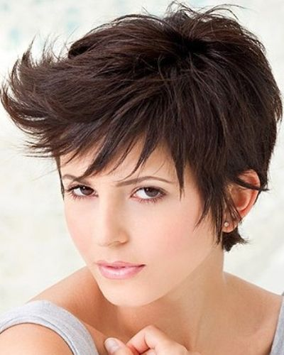 funky short shaggy hairstyles Short layers of flips