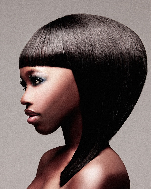 hairstyles for black kids A straight bob cut
