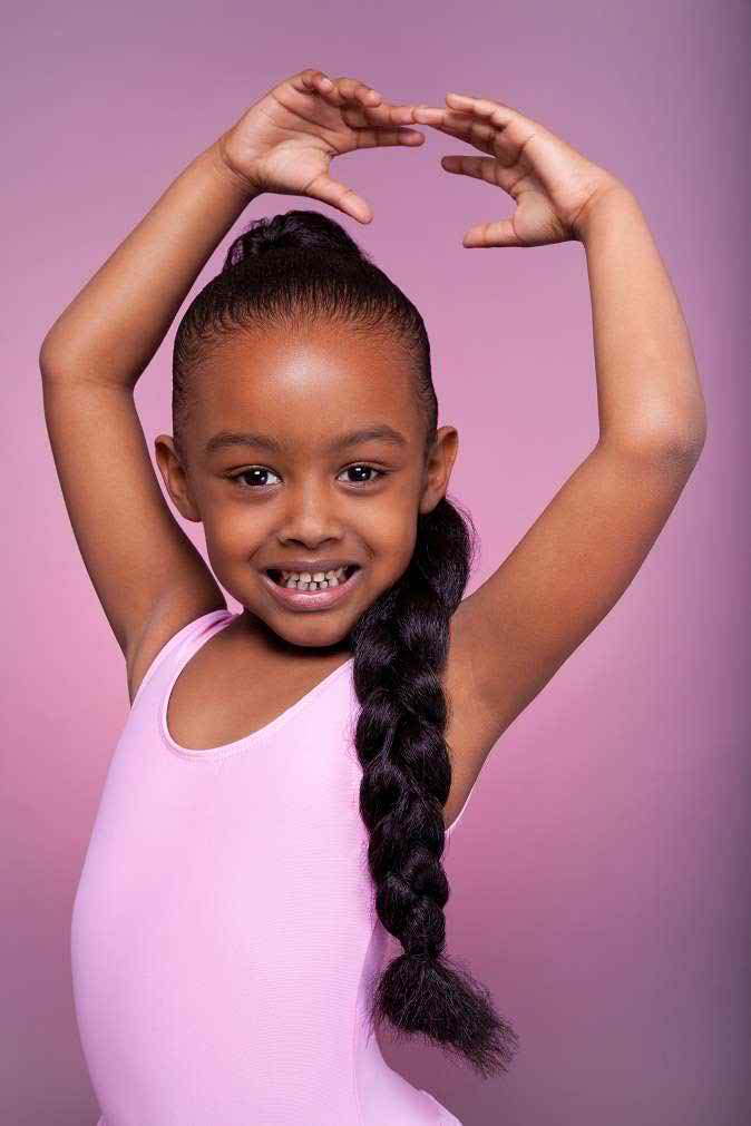 hairstyles for black kids Long black pony tail