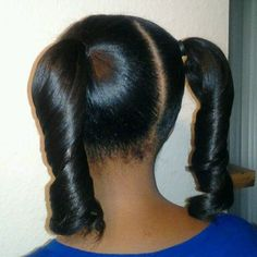 hairstyles for black kids The two pig tail pony