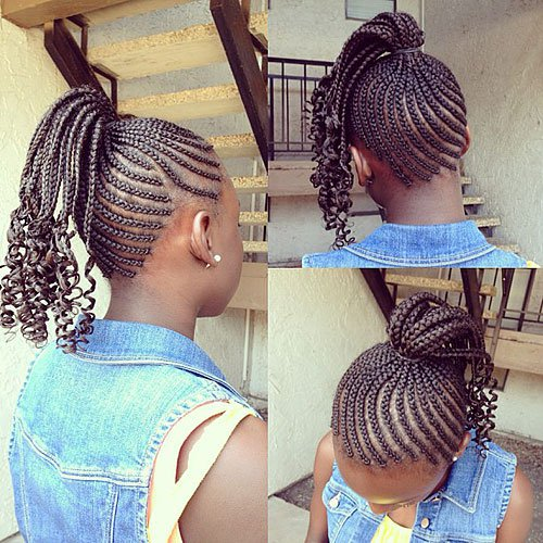 hairstyles for little girls box braids pony tail