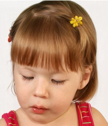 hairstyles for little girls straight bob cut with straight bangs