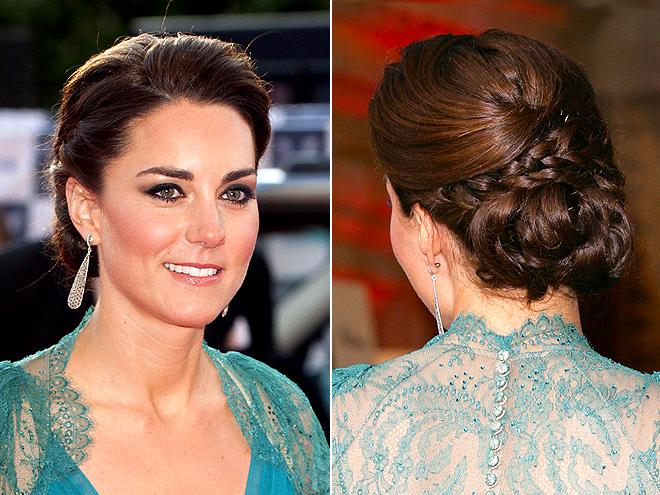 kate middleton hairstyles BRAIDED BUN